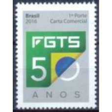 C-3650 -SELO FGTS 50 ANOS - 2016 - MINT