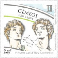 C - 3819 - SELO SIGNOS DO ZODÍACO, GÊMEOS - 2019 - MINT